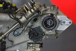 Detalle de caja de engranajes de Hispania Racing F1 Team