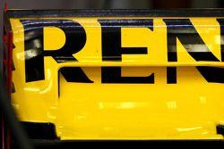 Detalle del alerón trasero de Renault F1 Team