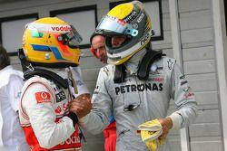 Lewis Hamilton, Nico Rosberg, de Mercedes GP y McLaren Mercedes