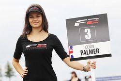 Grid girl for Jolyon Palmer