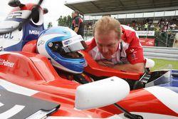 Jolyon Palmer with Jonathan Palmer CEO MotorSport Vision