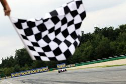 Nicola de Marco takes the chequered flag
