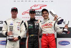 Dean Stoneman, Nicola de Marco and Sergey Afanasiev celebrate on the podium