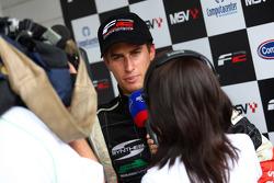 Race winner Nicola de Marco in the post race press conference