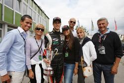 Race winner Nicola de Marco celebrates