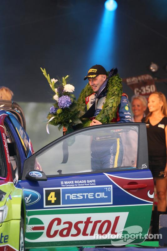Podium: rally winnaar Jari-Matti Latvala