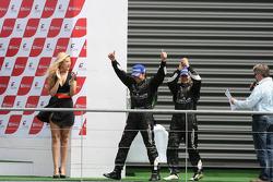 Podium: race winners Ricardo Zonta and Frank Kechele
