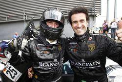 Race winnaars Ricardo Zonta en Frank Kechele