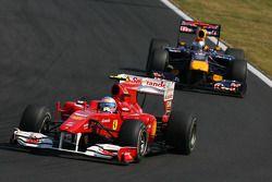 Fernando Alonso, Scuderia Ferrari y Sebastian Vettel, Red Bull Racing