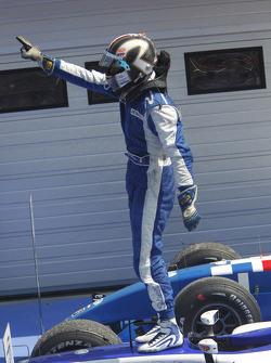 Giacomo Ricci celebrates his victory