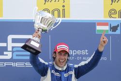 Giacomo Ricci celebrates his victory on the podium