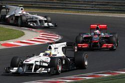 Pedro de la Rosa, BMW Sauber F1 Team y Jenson Button, McLaren Mercedes