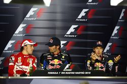 Press conference: race winner Mark Webber, Red Bull Racing, second place Fernando Alonso, Scuderia F