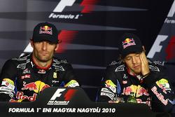 Press conference: race winner Mark Webber, Red Bull Racing, third place Sebastian Vettel, Red Bull Racing