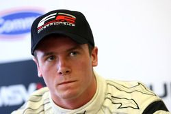 Pole sitter Dean Stoneman in the press conference