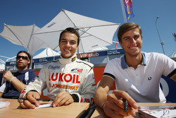 Sergey Afanasiev and Nicola de Marco at the autograph session