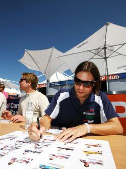 Kelvin Snoeks lors de la session d'autographes