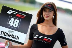 Grid girl for Dean Stoneman