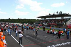 The grid forms up for race two