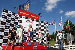 Podium and results: 1st: Jolyon Palmer, 2nd: Dean Stoneman, 3rd: Kazim Vasiliauskas