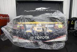David Reutimann's Toyota sits covered up