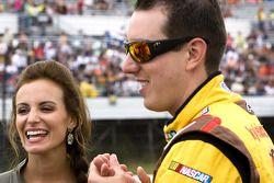 Kyle Busch, Joe Gibbs Racing Toyota with girlfriend Samantha