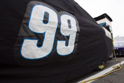 Car of Carl Edwards, Roush Fenway Racing Ford, covered