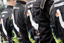 Crew of Carl Edwards, Roush Fenway Racing Ford during the National Anthem