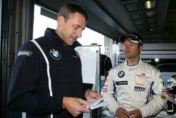 Bart Mampaey, Team Principal, BMW Team RBM et Andy Priaulx BMW Team RBM BMW 320si