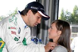 Augusto Farfus BMW Team RBM BMW 320si avec sa femme Liri