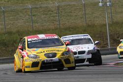 Michel Nykjer Sunred ingénieuring Seat Leon 2.0 TDI, Andy Priaulx BMW Team RBM BMW 320si