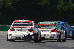 Kristian Poulsen Poulsen Motorsport BMW 320si et Mehdi Bennani Wiechers-Sport BMW 320si