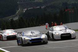 #10 Hexis AMR Aston Martin DB9: Clivio Piccione, Jonathan Hirschi, #22 Sumo Power GT Nissan GT-R: Warren Hughes, Jamie Campbell-Walter