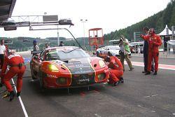 Pitstop #2 AF Corse - ALD Team Vitaphone Ferrari F430 GT2: Gianmaria Bruni, Bert Longin, Eric Van De