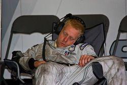 A mechanic rests