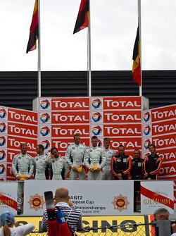 Podium: Jörg Müller, Pedro Lamy, Uwe Alzen, Dirk Werner, Dirk Müller, Dirk Adorf, Romain Grosjean, V