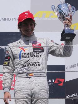 Podium: 3de Roberto Merhi, Muecke Motorsport, Dallara F308 Mercedes