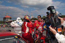 GT klasse racewinnaar #62 Risi Competizione Ferrari F430 GT: Jaime Melo, Gianmaria Bruni
