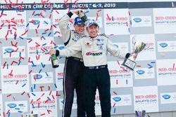 LMPC podium: klassewinnaars Scott Tucker en Christophe Bouchut