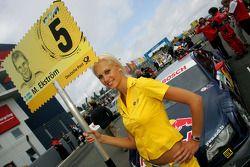 La pitgirl de Mattias Ekström, Audi Sport Team Abt Audi A4 DTM