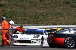 Adrian Newey, Red Bull Racing, Technical Operations Director crashea on an race of the 2010 Michelin Ginetta G50 Cup