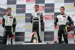 Podium: race winner Antonio Felix da Costa, Motopark Academy, Dallara F308 Volkswagen, second place