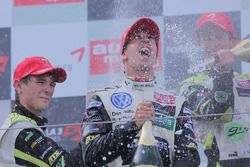 Podium: race winner Antonio Felix da Costa, Motopark Academy, Dallara F308 Volkswagen