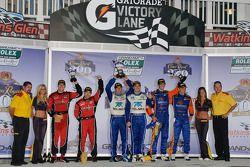 DP podium: class et toutes catégories vainqueurs Memo Rojas et Scott Pruett, 2e Max Angelelli et Ri