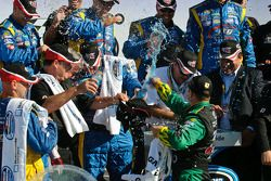 Marcos Ambrose celebrates with his crew