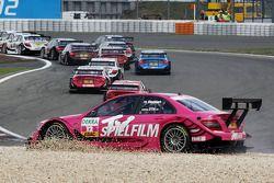 Susie Stoddart, Persson Motorsport, AMG Mercedes C-Klasse crash