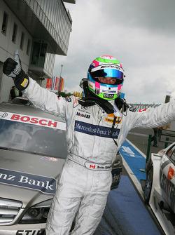 Race winner Bruno Spengler, Team HWA AMG Mercedes C-Klasse celebrates