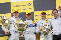 Podium: race winner Bruno Spengler, Team HWA AMG Mercedes C-Klasse, second place Paul di Resta, Team HWA AMG Mercedes C-Klasse, third place Gary Paffett, Team HWA AMG Mercedes C-Klasse
