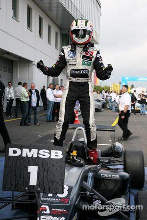 Race winner Antonio Felix da Costa, Motopark Academy Dallara F308 Volkswagen