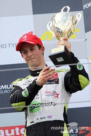 Podium: third place Alexander Sims, ART Grand Prix Dallara F308 Mercedes